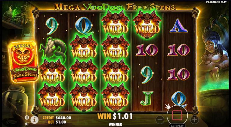 mega voodoo free spins