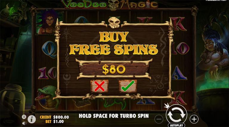 voodoo magic buy free spins