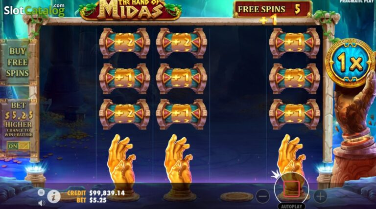 The-Hand-of-Midas-free spins