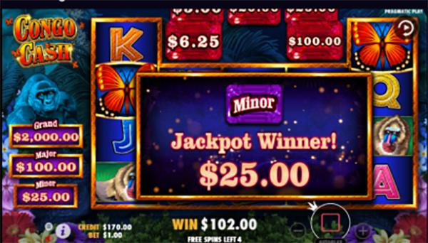 congo cash jackpot