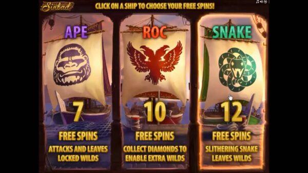 sinbad bonus game